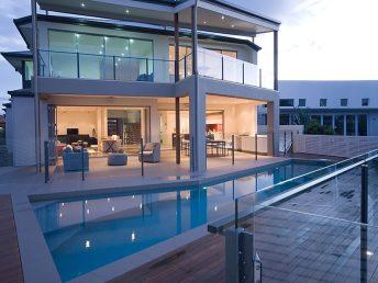 use of glass balustrades