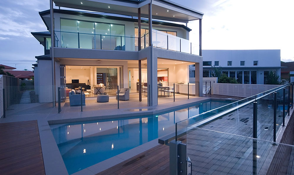 use of glass balustrades